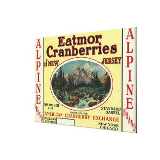 Etiqueta de marca alpina de los arándanos de Eatmo Impresion En Lona