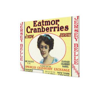 Etiqueta de marca de los arándanos de Eatmor de la Lona Estirada Galerías