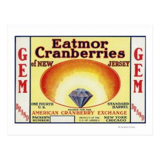 Etiqueta de marca de los arándanos de Eatmor de la Tarjetas Postales