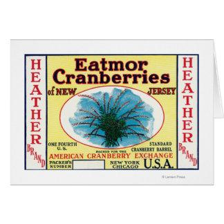 Etiqueta de marca de los arándanos de Eatmor del b Tarjeta De Felicitación