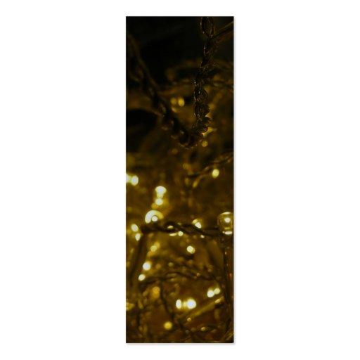 Etiqueta de metales pesados del regalo del navidad tarjetas de negocios