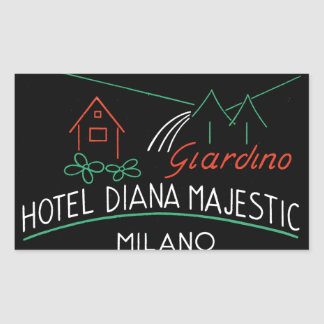 Etiqueta de Milano del hotel del vintage