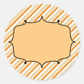 Etiqueta de Monogramming de la caída