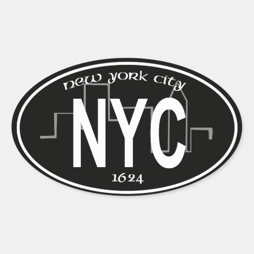 etiqueta de New York City