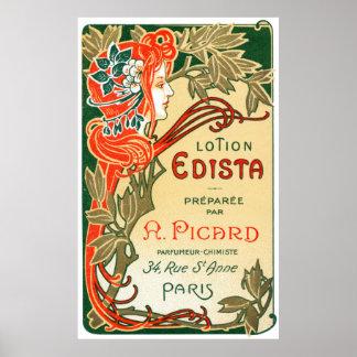 Etiqueta de Nouveau del arte de 1910 franceses Posters