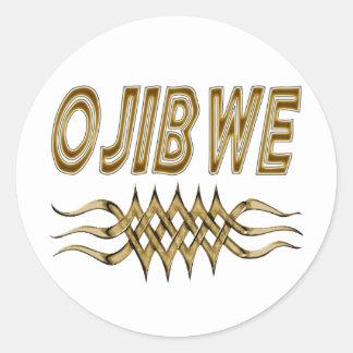 Etiqueta de Ojibwe u hoja del pegatina