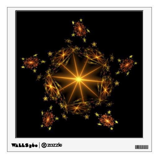 Etiqueta de oro de la pared de la estrella del fra