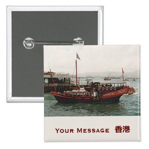 Etiqueta de oro del nombre de la insignia de Hong  Pin