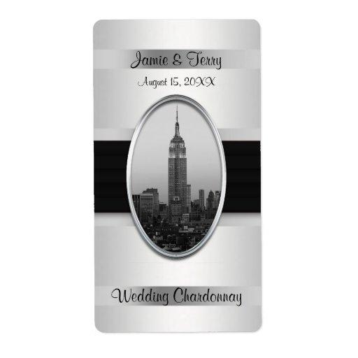Etiqueta de plata blanca del vino del Empire State Etiqueta De Envío
