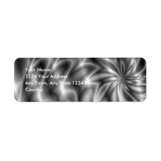 Etiqueta de plata de Avery del remolino Etiqueta De Remitente
