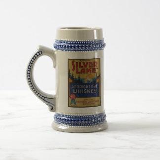Etiqueta de plata del arte del alcohol del vintage tazas