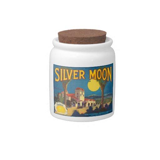 Etiqueta de plata del cajón de la fruta de la luna plato para caramelo