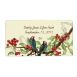 Etiqueta de rama floreciente de Borgoña de los páj Etiquetas De Envío
