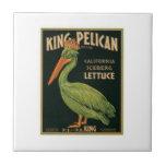 Etiqueta de rey Pelican Lettuce Vintage Crate Azulejo