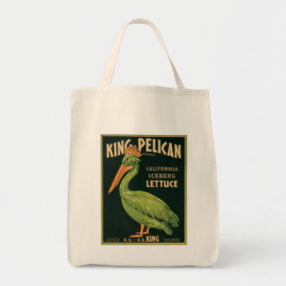 Etiqueta de rey Pelican Lettuce Vintage Vegetable