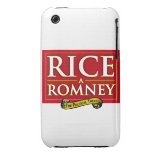 ETIQUETA DE RICE-A-ROMNEY Case-Mate iPhone 3 FUNDAS