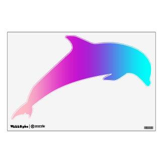 Etiqueta de salto del delfín - rosas, púrpuras, vinilo adhesivo