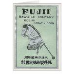 Etiqueta de seda japonesa del vintage del juguete  tarjetón