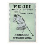 Etiqueta de seda japonesa del vintage del juguete  tarjeta postal