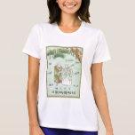 Etiqueta de seda japonesa del vintage japonés de camiseta