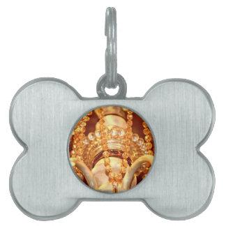 ETIQUETA de Shabby-Chandelier-Bling-4-Gold-PET Placas De Mascota