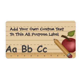 Etiqueta de uso múltiple de Dayz de la escuela Etiqueta De Envío
