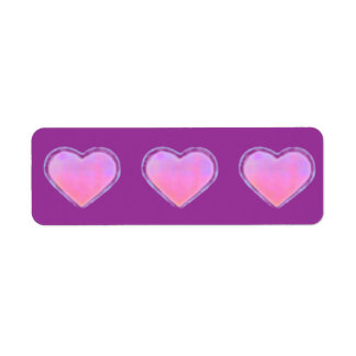 Etiqueta decorativa cambiante del corazón etiqueta de remitente