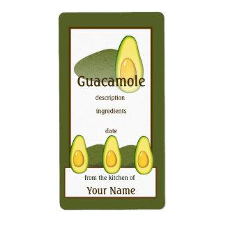 Etiqueta del aguacate del Guacamole Etiqueta De Envío