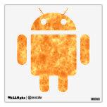 Etiqueta del androide de las llamas