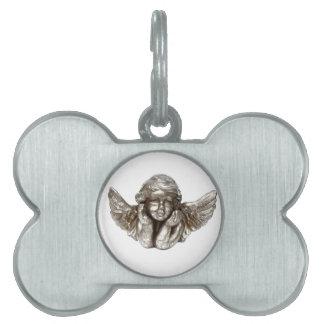 Etiqueta del ángel de guarda del mascota placas de nombre de mascota