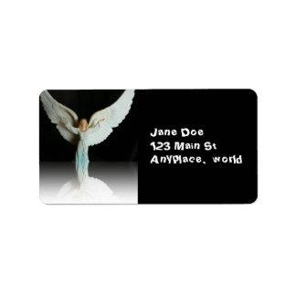 Etiqueta del ángel del navidad etiqueta de dirección