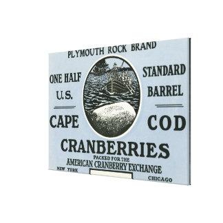 Etiqueta del arándano de la marca de Cape Cod Plym Impresión En Lona Estirada