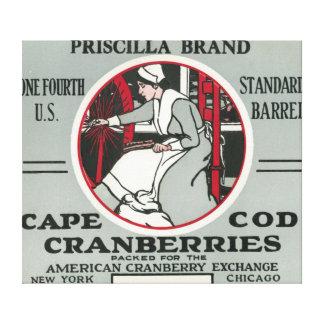 Etiqueta del arándano de la marca de Cape Cod Pris Impresiones De Lienzo