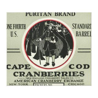 Etiqueta del arándano de la marca del puritano de  impresiones en lona estiradas