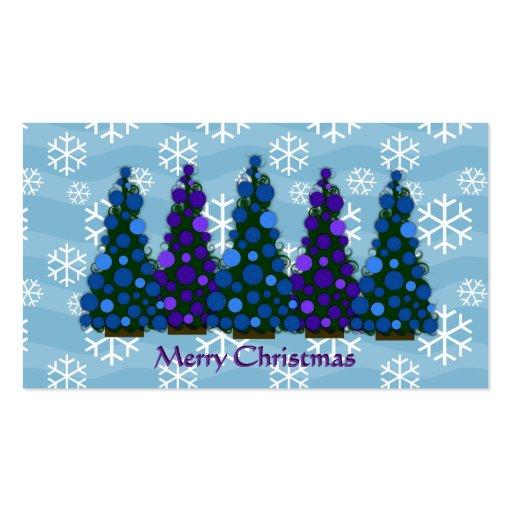 Etiqueta del árbol de navidad tarjetas de visita