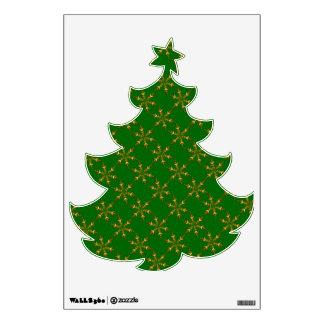 Etiqueta del árbol de navidad vinilo decorativo