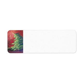 Etiqueta del árbol de pino en colores pastel/del etiqueta de remite