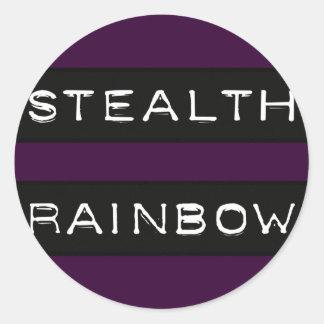 Etiqueta del arco iris de la cautela