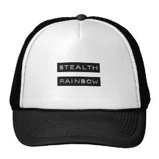 Etiqueta del arco iris de la cautela gorro