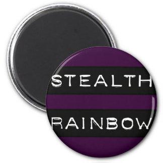 Etiqueta del arco iris de la cautela imán redondo 5 cm