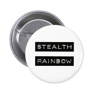 Etiqueta del arco iris de la cautela pin redondo de 2 pulgadas