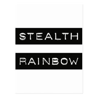 Etiqueta del arco iris de la cautela postal