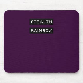 Etiqueta del arco iris de la cautela tapetes de raton