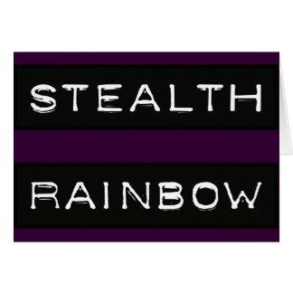 Etiqueta del arco iris de la cautela tarjeta de felicitación