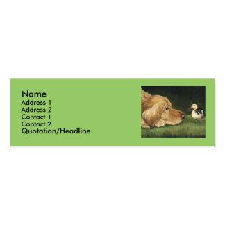 """Etiqueta del arte del perro del """"golden retriever tarjetas de visita mini"""