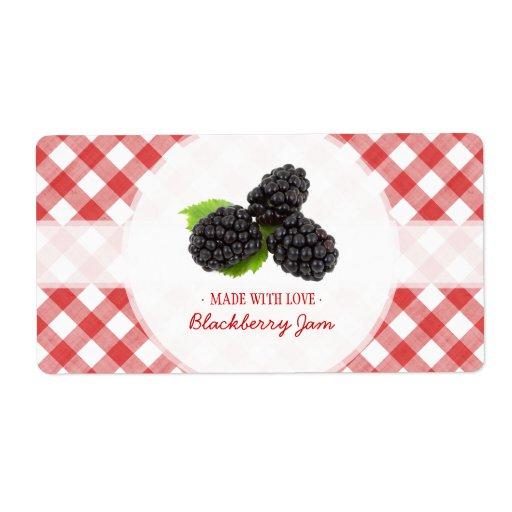 Etiqueta del atasco de Blackberry Etiqueta De Envío