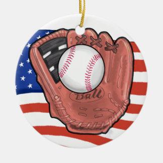 Etiqueta del béisbol/ornamento - SRF Adorno Redondo De Cerámica