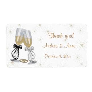 Etiqueta del boda de Champán Etiquetas De Envío