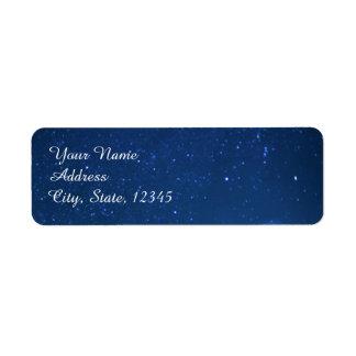 Etiqueta del boda de la noche estrellada etiqueta de remitente