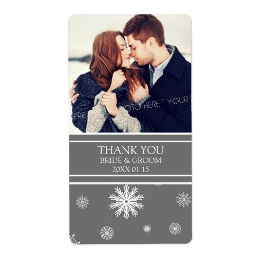 Etiqueta del boda del invierno de los copos de nie etiquetas de envío